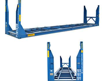40' flat rack standing posts